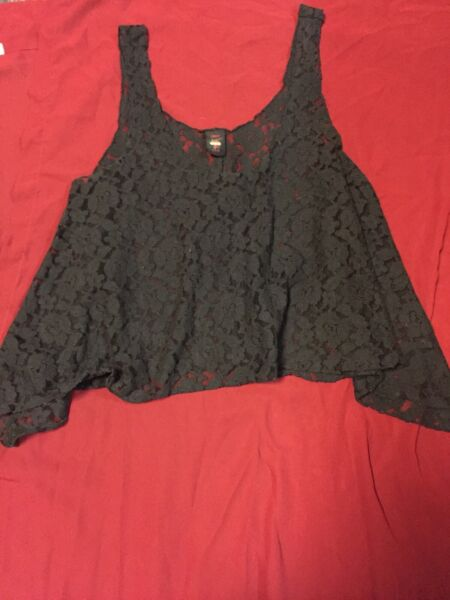 Sweet Love S Sexy Lace Crop Top Sheer Bought at Nasty Gal original  Store