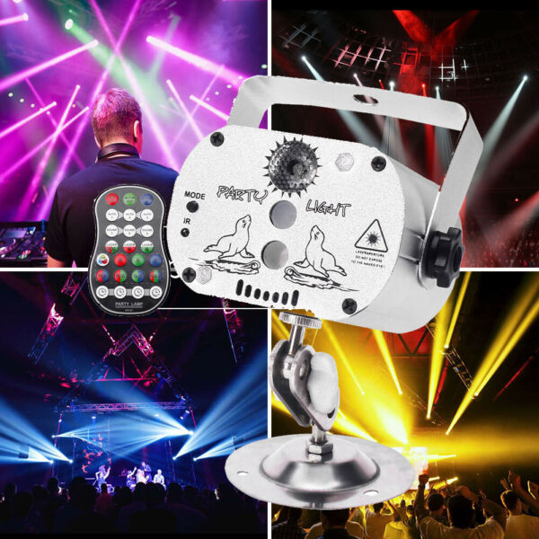 60 Pattern Projector LED RGB Laser Stage Light KTV DJ Disco Home Party Lighting