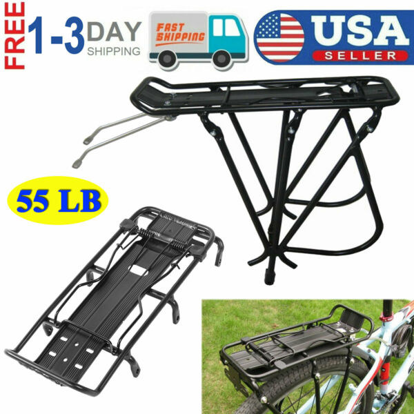 Alloy Rear Bike Seatpost Cargo Rack Quick Release Universal Bicycle Carrier 55lb $25.91