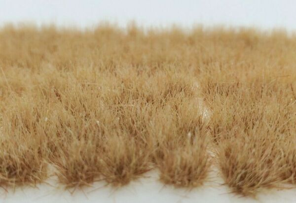 Self Adhesive Static Grass Tufts for Miniature Scenery Desert Beige 8mm