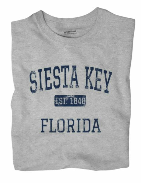 Siesta Key Florida FL T Shirt EST $18.99