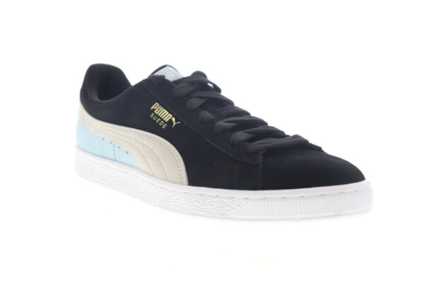 Puma Suede Classic 36534786 Mens Black Lace Up Low Top Sneakers Shoes