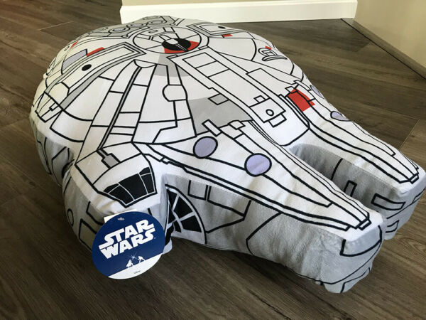 STAR WARS MILLENNIUM FALCON  3' OVERSIZED PILLOW - FRANCO & SONS - NEW W TAGS!!
