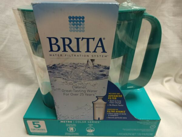 Brita 5 cup capacity jar with One advance filter metro light green