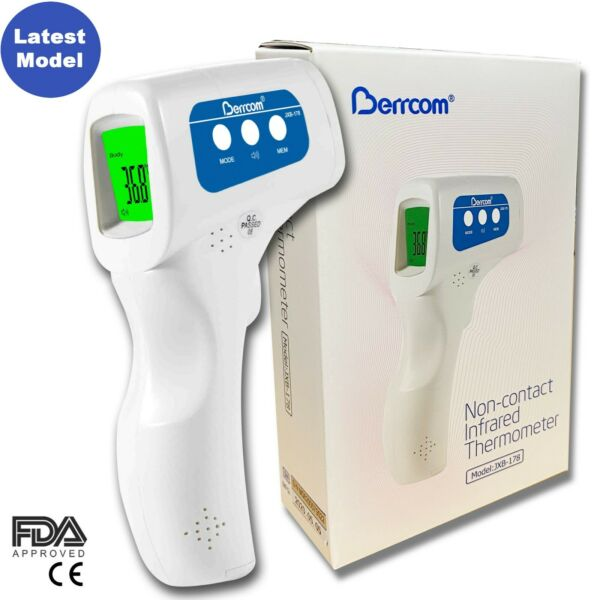 Berrcom Medical Grade NON CONTACT Infrared Forehead Thermometer FDA approved