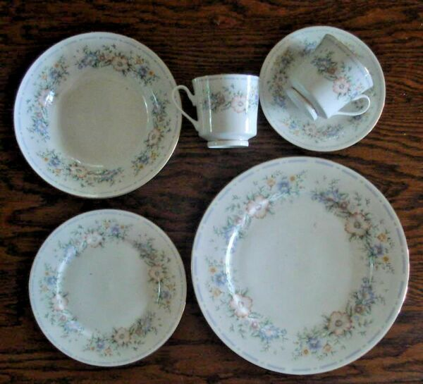 6 pc place setting Home Design Belle Jardin plate bowl
