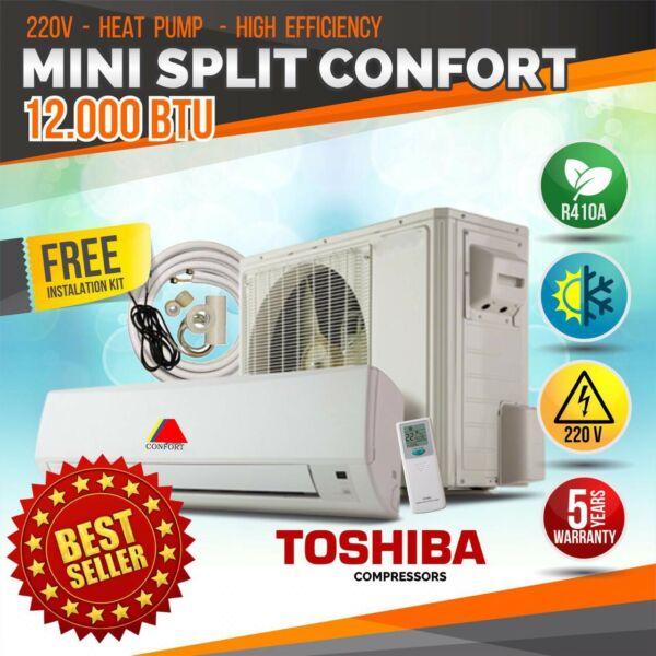 12000 BTU Air Conditioner Mini Split AC System Ductless HEAT PUMP 220V 60HZ $485.00