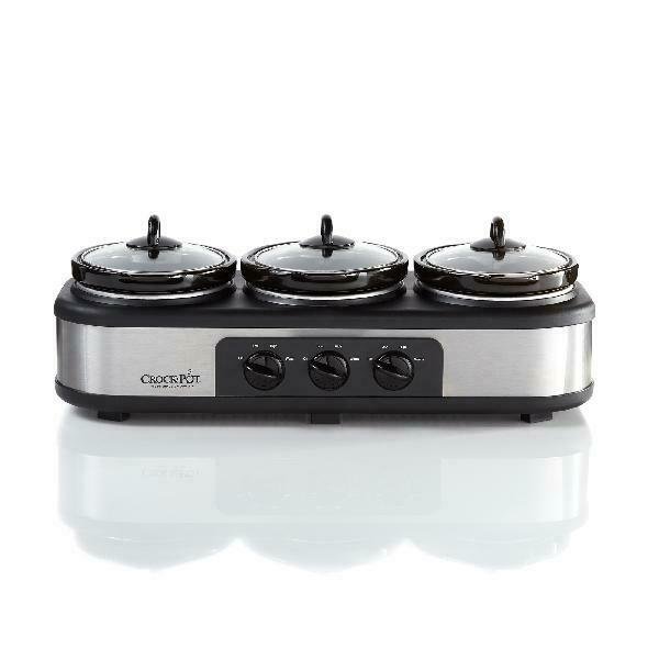 Crock Pot Trio Cook and Serve Slow Cooker and Food Warmer Stainless Steel