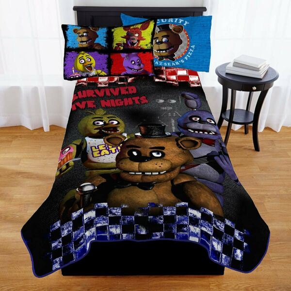 Franco Five Nights At Freddy's Furious Five Kids' Twin Blanket - 62