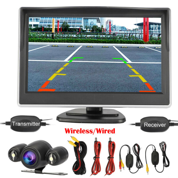 Wireless Car Backup Camera Rear View HD Parking System Night Vision 5quot; Monitor $38.98