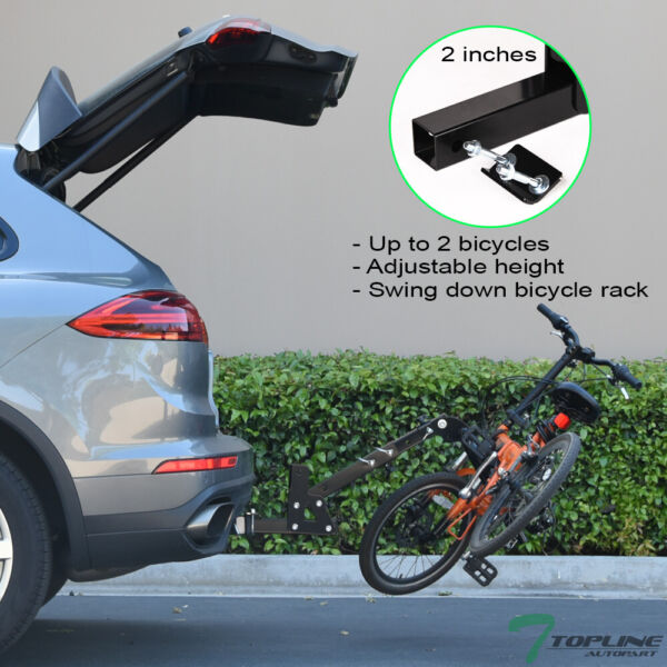 Topline 2 Bicycle Adjustable Foldable Hitch Mount Bike Rack Carrier Fits Mazda $128.00