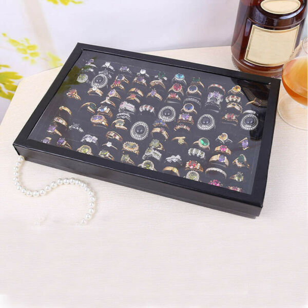 100 Slot Jewelry Organizer Box Holder Tray Case For Ring Earring Storage Display
