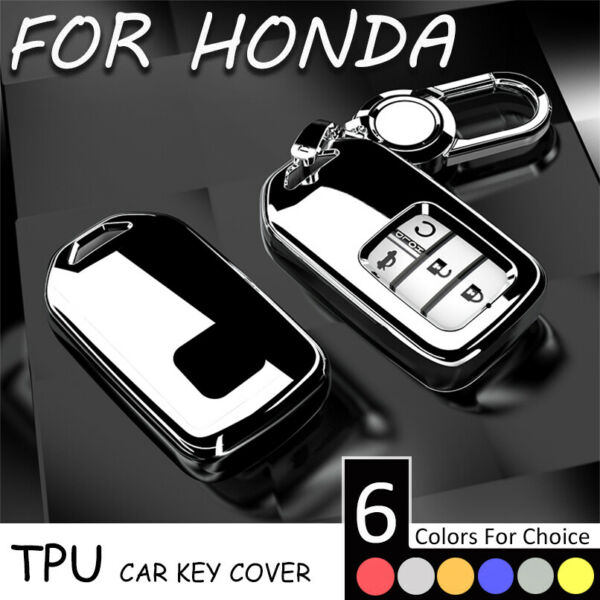 6 Color Soft TPU Remote Car Key Fob Cover Case Holder Shell For Honda Crider CRV