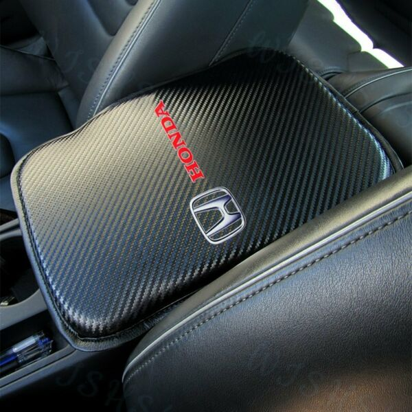 For New HONDA Racing Car Center Console Armrest Cushion Mat Pad Cover +FREE GIFT $16.99