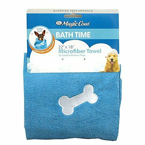 Four Paws Magic Coat Microfiber Dog Towel Small Medium Blue $5.99