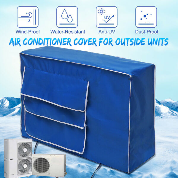 Window Air Conditioner Cover Outdoor Winter Protector Unit Anti-Snow Dustproof
