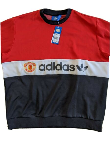 NEW Adidas Manchester United 1984 retro throwback Crewneck Sweater / Jumper - XL