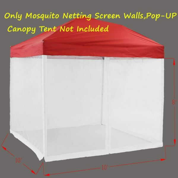10x 10' Gazebo and Tent Outdoor Patio and Garden Zippered Mesh Sidewalls for