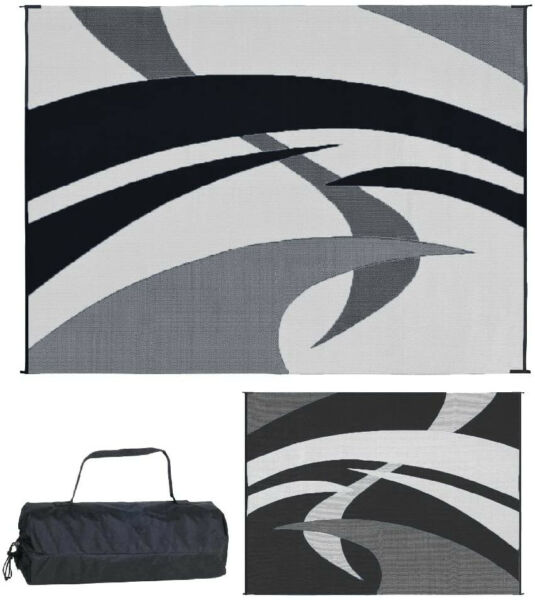 Reversible Patio Mat RV Outdoor Camping Picnic Carpet Deck 9 x 12 Camper Rug