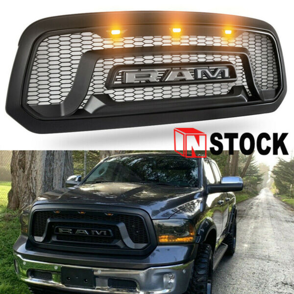 Grille Grill For Dodge Ram 1500 2013-2018 ABS Bumper Grill Mesh Rebel Style  NEW