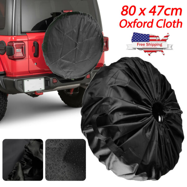 15quot; DIY trailer Spare tire tyre Wheel Cover Pure black Heavy Duty Vinyl Material $11.48