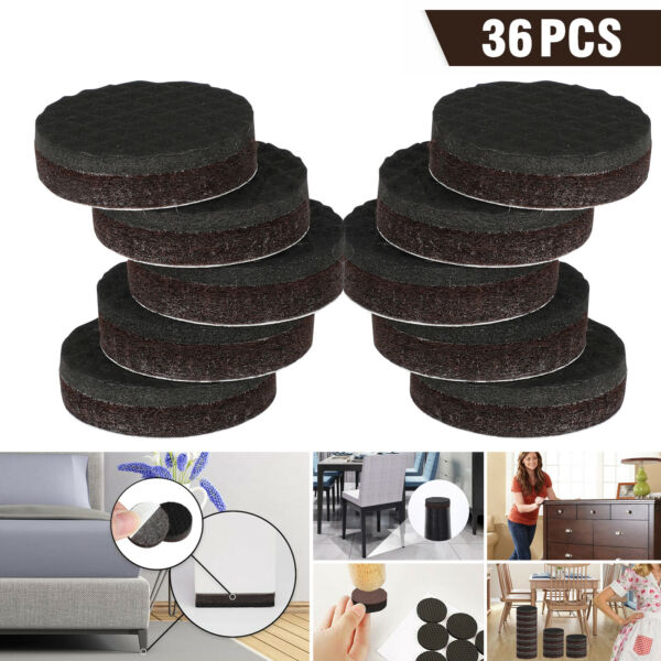 36pcs Non Slip Felt Pads For Furniture Floor Protectors Table Chair Feet Leg USA $8.78