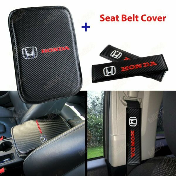 For New HONDA Racing Car Center Console Armrest Cushion Mat Pad Cover Combo Set $18.88
