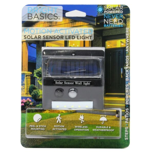 Bright Basics Solar LED Light for Outdoor Security Automatic Sensor Outdoor $9.99