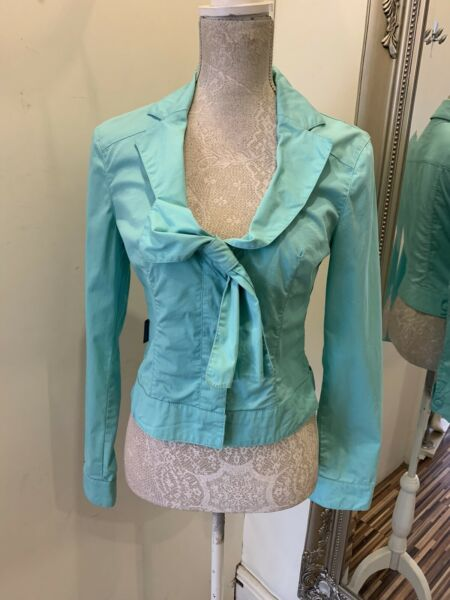 Gorgeous Turquoise Moschino Jacket New With Tags GBP 59.99