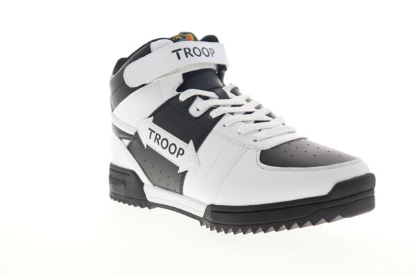 World Of Troop Crown Mid Ripple 1CM00848-021 Mens White High Top Sneakers Shoes