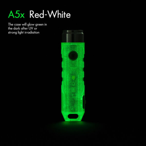 RovyVon A5x Led Rechargeable Flashlight with Red Side LightSmall Bright650 Lm