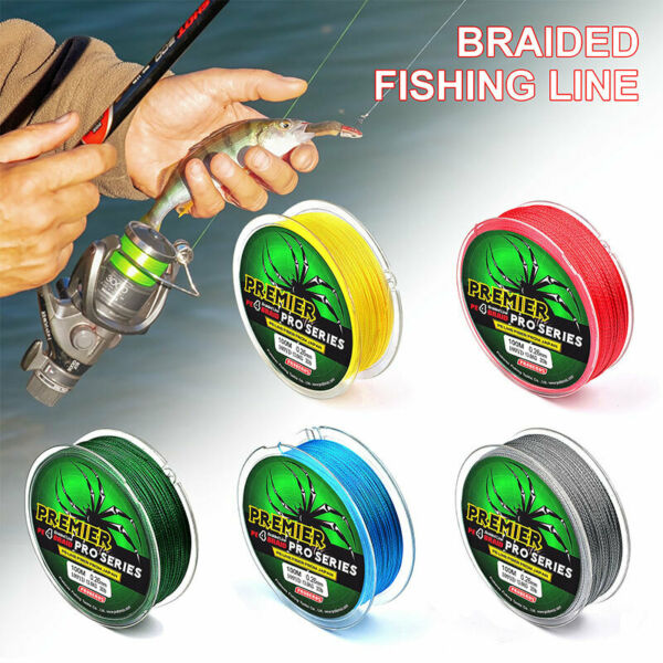 110 330Yard 6 100LB Fishing Line PE Braided Line Superline Reaction Tackle Power