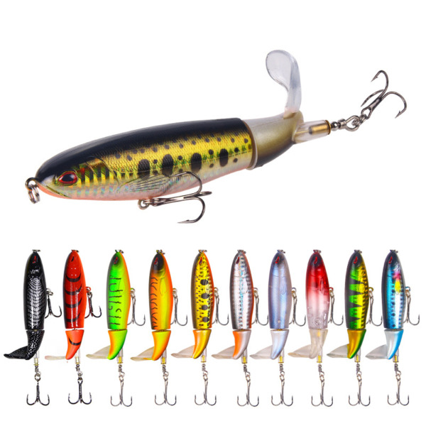 Whopper Plopper Topwater Floating Fishing Lures Rotating Tail for Bass 10 Color $6.79