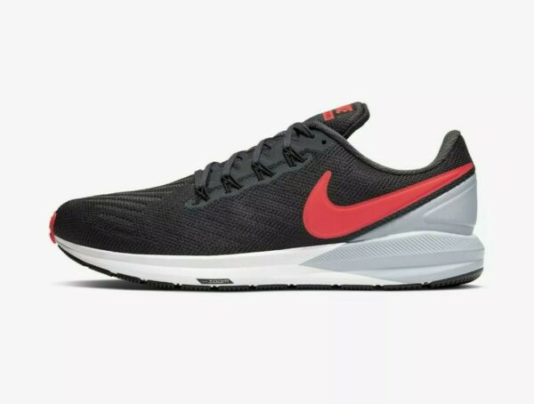 Nike Air Zoom Structure 22 Shoes Men's Sneakers Crimson/Gray AA1636-010