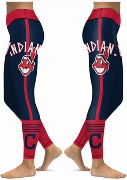 Cleveland Indians Small 2XL Women#x27;s Leggings