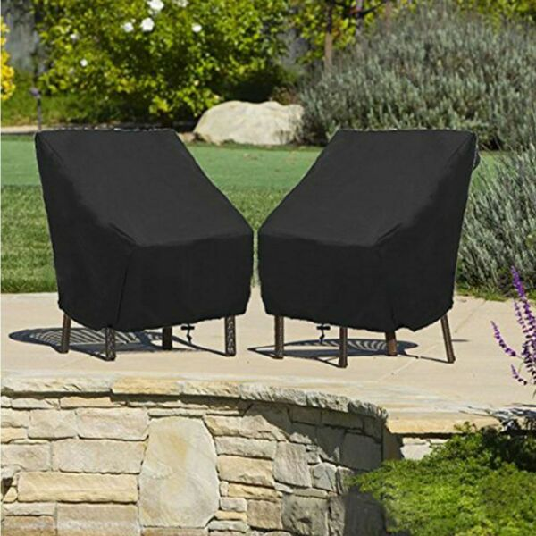 Waterproof Chair Cover High Back Outdoor Patio Garden Furniture Storage Covers
