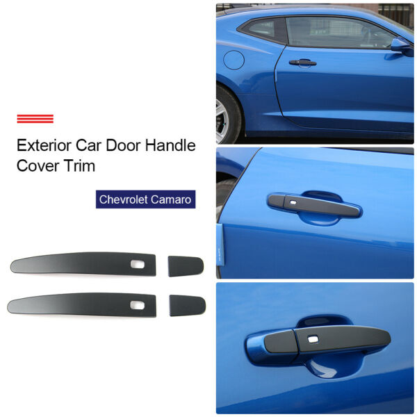 Aluminum Exterior Door Handle Cover Trim Bezel For Chevrolet Camaro 2017