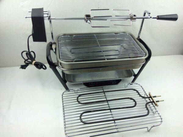 Faberware Open Hearth Electric Broiler Rotisserie Model 450a CompleteSuper Clean