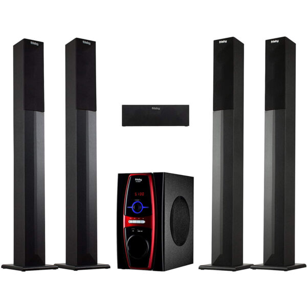 Frisby FS-6600BT 5.1 Stereo Home Theater System w/Tower Speakers