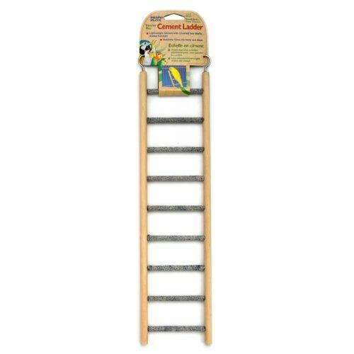 9 step Wood amp; Cement Bird Ladder stairs Accessories amp; toy for cage amp; small birds $14.27
