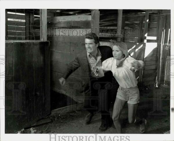 Press Photo Actor James Garner and Co-Star in