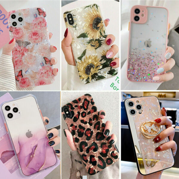Bling Glitter Case Girl Phone Cover for iPhone 13 Pro Max 12 11 8 Plus XR XS Max $7.89
