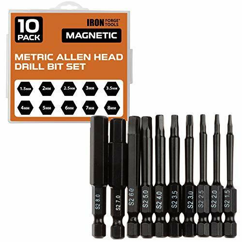 Hex Head Allen Wrench Drill Bit 10 set SAE Torx Key Driver Bits Magnetic Tips