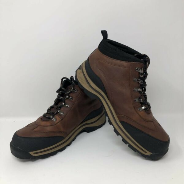 Timberland Boys Hiking Boots Brown Leather Lace Up 5 $29.95