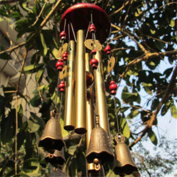Outdoor Living Wind Chimes Yard Garden Tubes Bells Copper Antique Windchime Wall