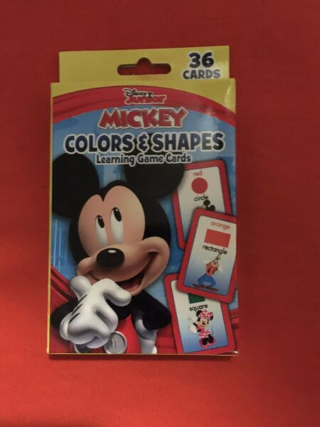 Disney Junior Mickey Mouse Colors and Shapes 36 Learning Cards New