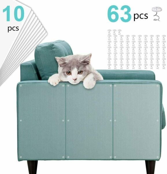 Clear Cat Anti Scratch Training Tape Deterrent Door Sofa Furniture Protectors $19.48