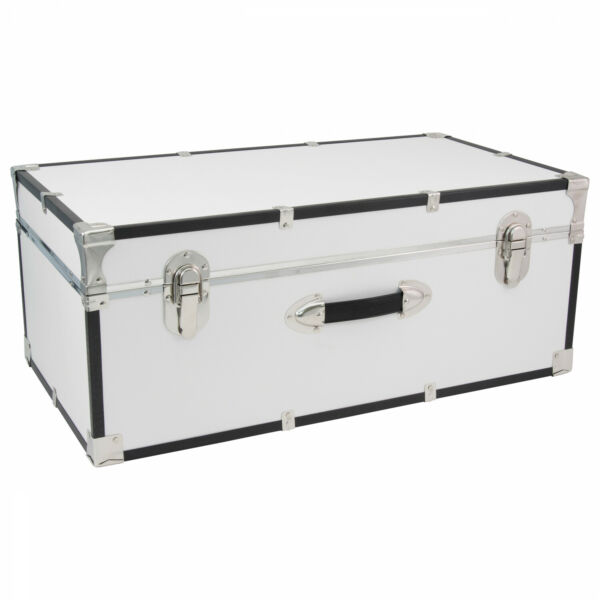 White Storage Needs Wood Trunk 30