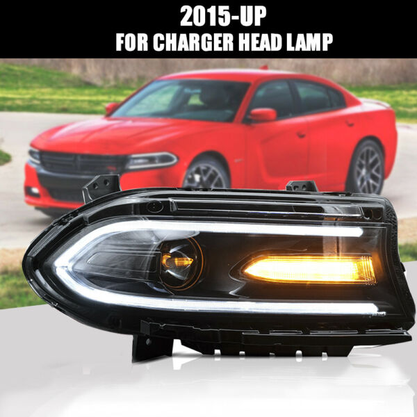 Dodge Charger 2015-2018 Dual Beam LED Headlights DRL Sequential Turn Signal