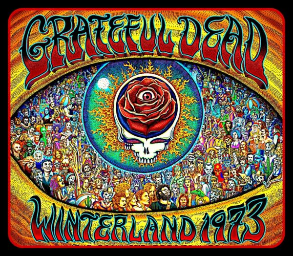 4.5quot; Grateful Dead Winterland 73#x27; vinyl sticker. Steal Your Roses decal for car.